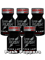 5 x SUPER RUSH BLACK small - PACK