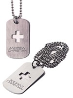 Andrew Christian - Signature Dog Tag Designer Necklace Silver