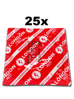 25 x London Condoms - Red with strawberry flavor