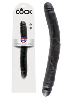 King Cock - 12 inch Slim Double Dildo Black