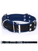 Deluxe Bondage Collar - Black/Blue
