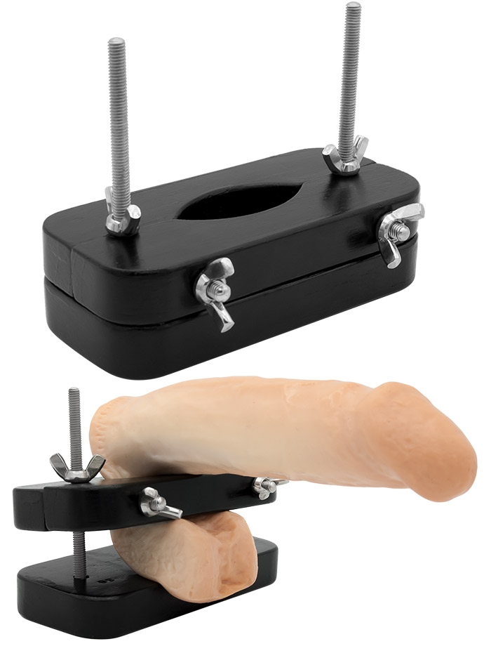 Extrem BDSM Ball Squeezer Press