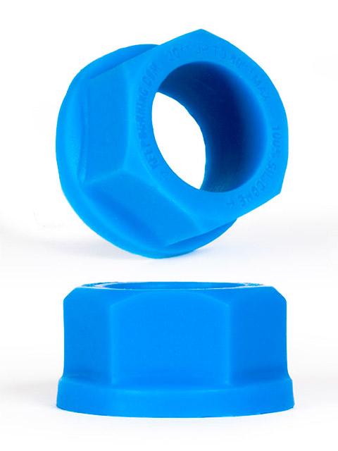 Burning Wheels 100% Silicone Cockring CK04 Blue
