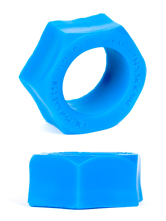 Burning Wheels 100% Silicone Cockring CK07 Blue