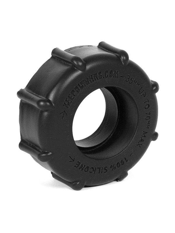 Burning Wheels 100% Silicone Cockring CK08 Black