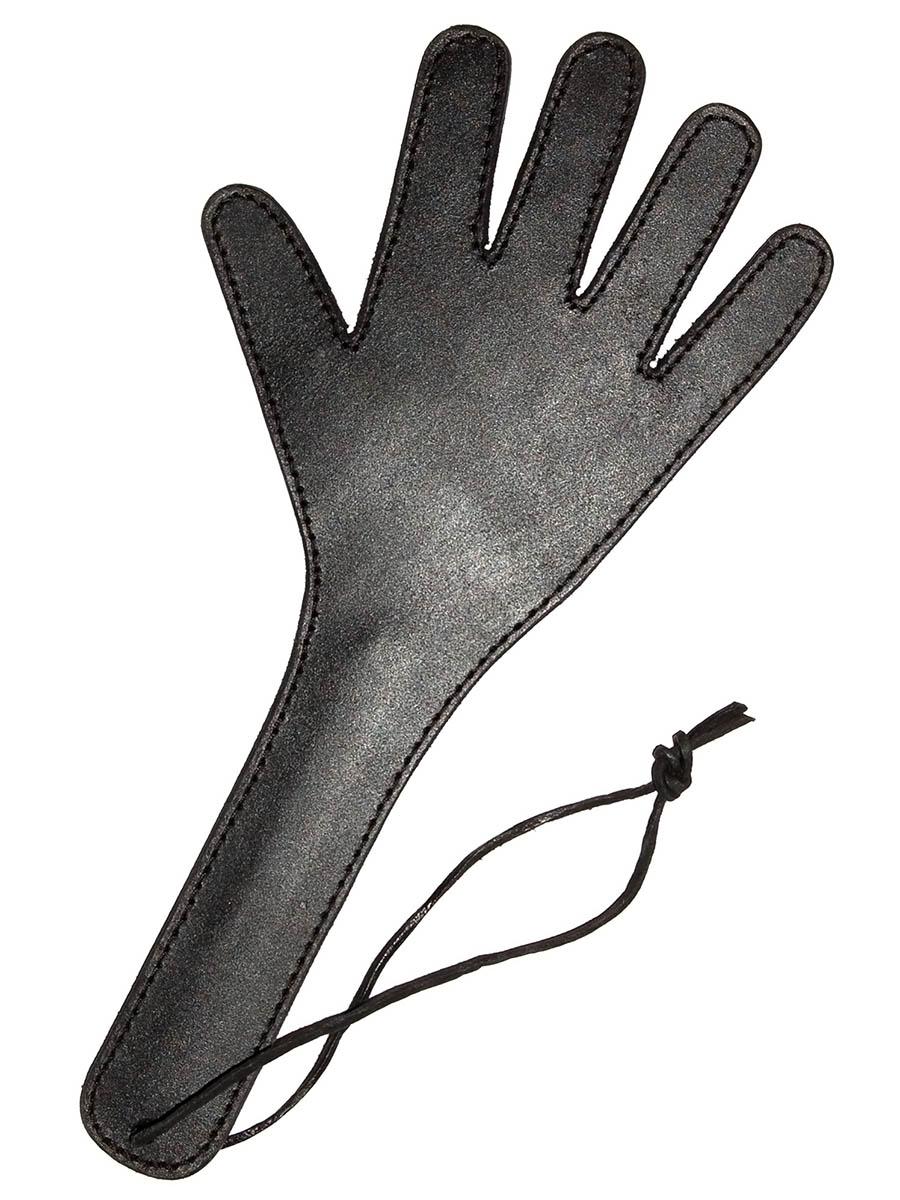 Hand Spanker Black Leather