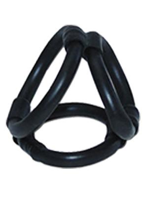 Tri Ring Cock Cage - black