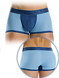 Modus Vivendi - Perforated Boxershort - Blau