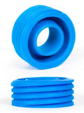 Burning Wheels 100% Silicone Cockring CK12 Blue