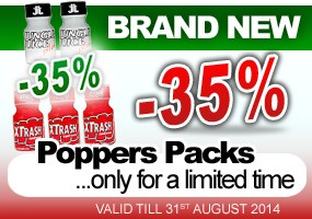 Poppers Packs -35%
