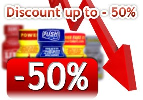 Discount up to minus 50%!